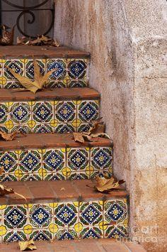 spanish-tile-stair-sandra-bronstein.jpg (598×900)