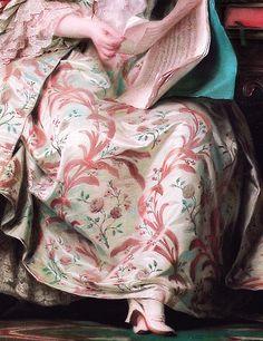 Art, beautiful details .. X ღɱɧღ || Full-length portrait of the Marquise de Pompadour (Detail) Maurice Quentin de La Tour (1704–1788) Date: between 1748 and 1755
