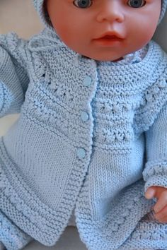 "Knitting For 18 Dolls | ... doll knitting pattern fits 17""-18"" dolls like Baby born and Annabelle"