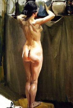 Sorolla y Bastida, Joaquin (1863-1923) - 1910c. Nude Woman (Sorolla Museum, Madrid, Spain)   Flickr - Photo Sharing!