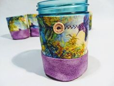 These cozies are coated with Hidden cannabis. The humming birds love the nectar from these beautiful Buds. Protect your glass jar in style! This lined and layered with 100% cotton batting cozie will do the job. I like to put them on my glass pint jars I drink out of! Especially during