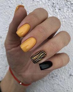 Yellow Nails Design, Yellow Nail Art, Green Nails, Black Nails, Blue Nail, Cute Nails, Pretty Nails, My Nails, Best Nail Art Designs