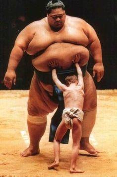 hilarious sumo wrestler