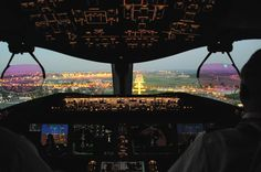 Approach to Warsaw Chopin Airport after a transatlantic flight.