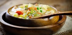 This chunky chicken soup chock-full of delicious veggies couldn't be easier to make.