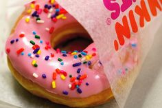 My FAVORITE doughnut to get at Dunkin Dounts....Strawberry Frosted with Sprinkles....Mmmm!!!