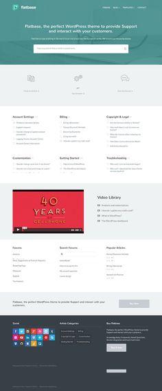 Flatbase - a multipurpose WordPress theme