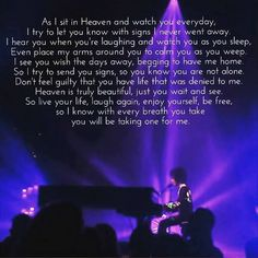 For anyone who has lost someone they love or for anyone who needs words to sum up for the one they love when you leave this earth. #prince.