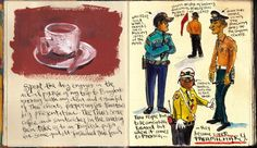 My Bangkok Travel Journal by Danny Gregory