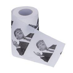 naisicatar Präsident Donald Trump bedrucktes Toilettenpapier Rolle politischen Gag Geschenk 4Witz Funny 10m x 11cm: Amazon.de: Küche & Haushalt