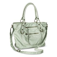 Mossimo Supply Co. Satchel Handbag with Strap - Mint