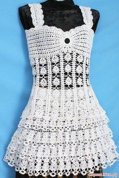 Вязание: топ и юбка