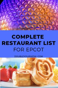 Every restaurant at Epcot in Disney World is listed here. Find out what character meals are available, how many dining credits you will need, and Disney World Secrets, Disney World Food, Disney World Florida, Disney World Parks, Disney World Planning, Walt Disney World Vacations, Disney World Tips And Tricks, Disney Tips, Disney Travel