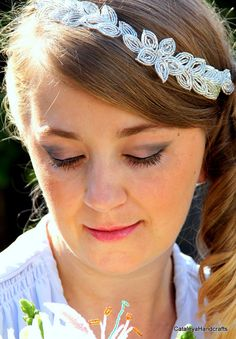 Crystal Bridal Hair Vine French Beaded by CataleyaHandcrafts