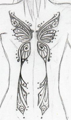 Butterfly Tattoo by Vulgarism on DeviantArt Dope Tattoos, Dream Tattoos, Pretty Tattoos, Future Tattoos, Body Art Tattoos, Anime Tattoos, Tattoo Drawings, Sleeve Tattoos, Tatoos