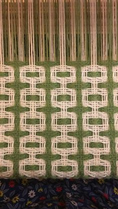 Double Deflected weave pattern on the loom