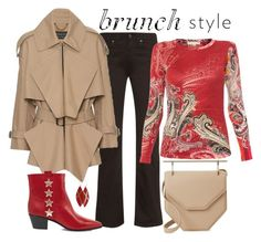 """Sunday Brunch Look"" by romaboots-1 ❤ liked on Polyvore featuring Ferrari, Acne Studios, Pashma, Burberry, Yves Saint Laurent and M2Malletier"