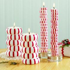peppermint candy candles