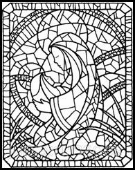 Mary and Jesus Stained glass coloring page