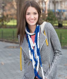 Game Time Chain Scarf Free Pattern from Red Heart Yarns