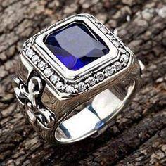 Mens Rings For Sale, Rings For Men, Sterling Silver Mens Rings, Sterling Silver Cross, Mens Band Rings, Halo Rings, Gold Rolex, Gold Chains For Men, Biker Rings