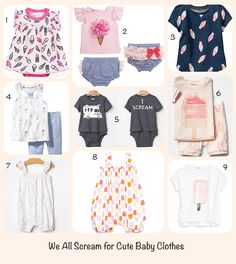 ice cream baby cloth
