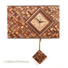 Gallery of Wall Clocks | Corrugated Mosaic Art | Luci Lytle