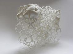 7knotwind:  Daniel Widrig Grid (2012) Polyamide0.20m x 0.20m v 0.10mPrivate commission