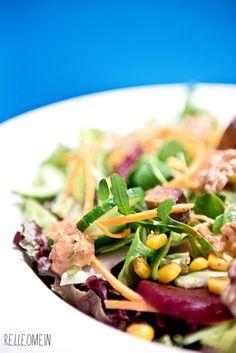 Vegan for Fit: Salat mit rote Bete, Nüssen und Tomatendressing   relleoMein #vegan