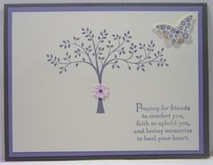Thoughts & Prayers Stamp Set Basic Grey Very Vanilla Wisteria Wonder Coordinating Jewels Itty Bitty Butterfly Punch/Coordinating Stamp