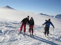 Das Team vom Bergsport Shop der-ausruester.de beim Skifahren in den Ötztaler Alpen in Tirol Österreich
