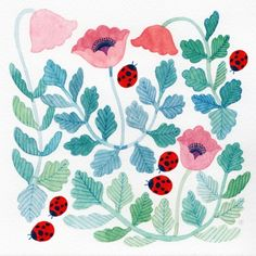 Patternbank recently stumbled on this collection of charming illustrations by artist Ayumi Miyahara. Ayumi& illustration style gives her subjects Embroidery Patterns, Print Patterns, Time Tumblr, Plant Art, Design Girl, Liberty Print, Watercolor Illustration, Simple Illustration, Repeating Patterns