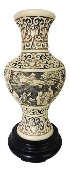 Antique Large 14 Royal Bonn Hand Painted Vase Vintage Antique