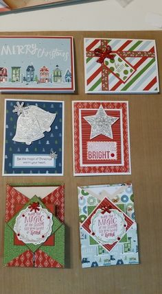 Card workshop by Lori Symank. Christmas Arts And Crafts, Christmas Cards To Make, Xmas Cards, Holiday Cards, Fall Cards, Winter Cards, Scrapbook Cards, Scrapbooking, Heart Cards