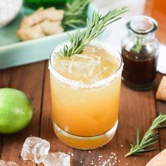 Spring allergies got you down? Try this healing Rosemary Ginger Margarita!