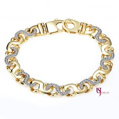 2.40 TCW Diamond Handmade Mariner Link Bracelet 14K Yellow Gold