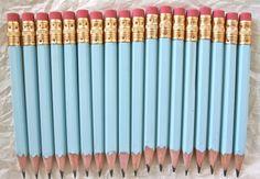 Mini Pencils 18 Color Choices #Pink #Wedding #PinkWedding #Paper