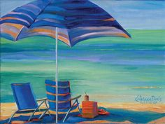 """Day at the Beach I"" by Kathleen Denis"