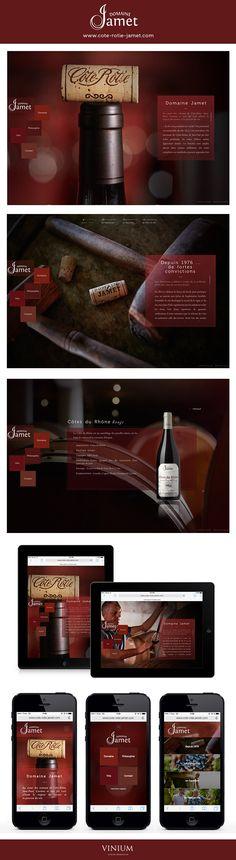 Depuis 1976 le Domaine Jamet élabore avec passion des vins uniques, dans le respect du terroir de #CôteRôtie. Découvrez leur tout premier site vitrine, créé par Vinium : www.cote-rotie-jamet.com #vin #wine #rhone #domainejamet #webdesign