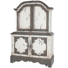 White French Country Glassfront Cabinet - Belle Escape   Life in ...