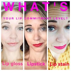 1. Lip gloss is kinda like a first date. You're interested in some color but if it doesn't last, you're ok with that. You don't want to be tied to one color for too long. 2. Lipstick is more like a serious relationship. You want the color to last, but you aren't too sure you want to commit to anything long term in case later in the day you decide to change outfits. 3. Now lip stain. That's a commitment. That's like marriage. You're saying I need you forever.