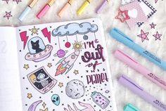space doodles for bullet journal space doodles for bullet journa. space doodles for Bullet Journal Inspo, Bullet Journal 2019, Bullet Journal Aesthetic, Bullet Journal Ideas Pages, Space Drawings, Doodle Drawings, Kalender Design, Space Doodles, Journal Fonts