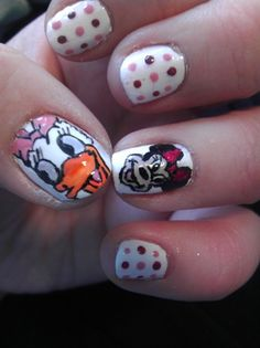 Minnie Mouse/Daisy Duck Nails