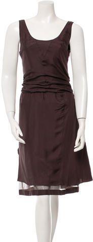 Miu Miu Silk Sleeveless Dress