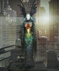 """Thierry Mugler's 1992 ensemble from """"Superheroes: Fashion and Fantasy"""" at the Metropolitan Museum of Art in 2008"""