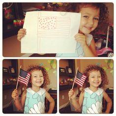 America the Adorable. #curlyheadedkids #cuteasabutton #americanflag #tinypatriot