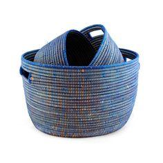 Indigo Mswala Baskets - Set of 3 | dotandbo.com