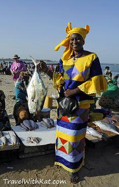 Ida at Tanji fish market, The Gambia.