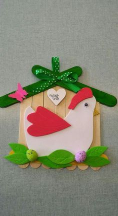 Vbs Crafts, Popsicle Stick Crafts, Bird Crafts, Classroom Crafts, Fun Crafts For Kids, Christmas Crafts For Kids, Craft Activities For Kids, Craft Stick Crafts, Easter Art