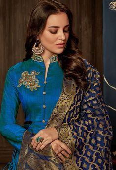 Latest Punjabi Suits Design, Latest Suit Design, Dress Indian Style, Indian Dresses, Indian Outfits, Indian Wear Rajasthani Dress, Rajputi Dress, Jaipur, Color Combinations, Sari, Suits, Model, Dress Ideas, Dresses #suitdesign #colourcombination #punjabisuits #punjabisuit #contrastcolour #colorcombination Colours Combination Ideas Suits Kurti Dress New Colour Combination For Punjabi Suits Fashion Trends contrast colour combination for lehenga,peach colour combination dresses Designer Salwar Kameez, Designer Anarkali Dresses, Designer Sarees, Sharara Designs, Silk Kurti Designs, Latest Saree Blouse Designs, Embroidery Suits Punjabi, Embroidery Suits Design, Modern Embroidery